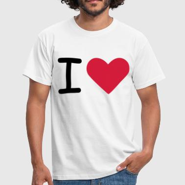 I love - I heart - Men's T-Shirt