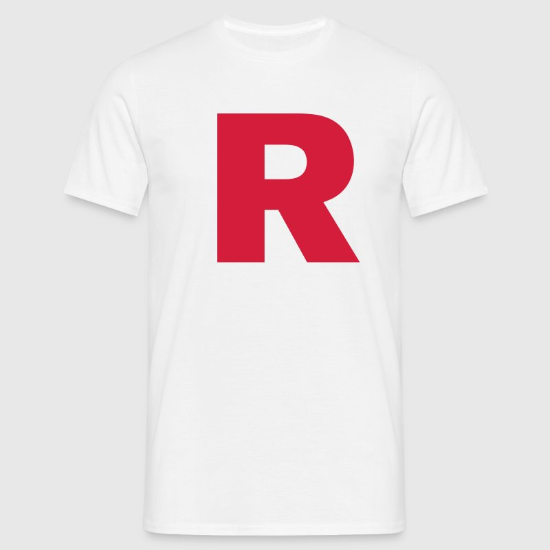 Rocket revolution, R, team, retro, letter, game - Men's T-Shirt