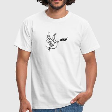 Year 1976 Peace dove with year 1976 - Men's T-Shirt
