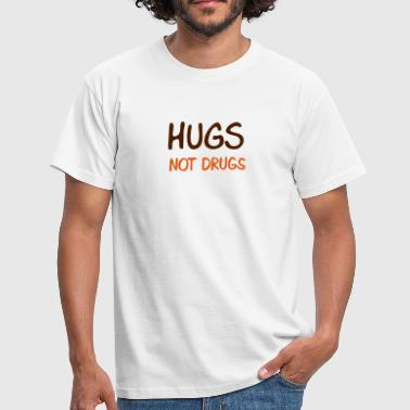hugs not drugs - T-skjorte for menn