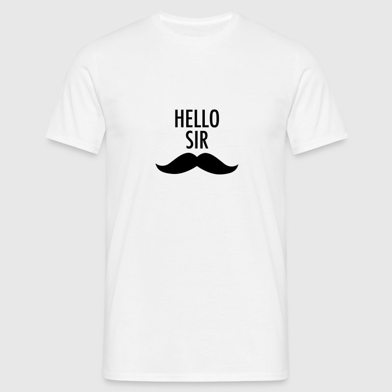 Hello Sir (Moustache) - Men's T-Shirt