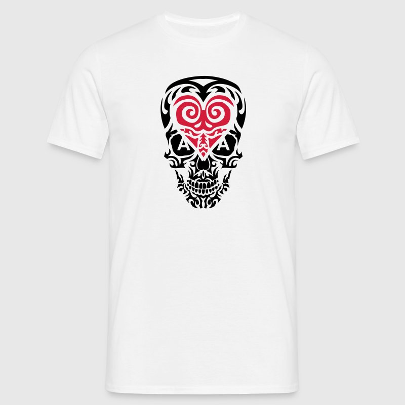 tete mort tribal skull as coeur poker 1 - T-shirt Homme