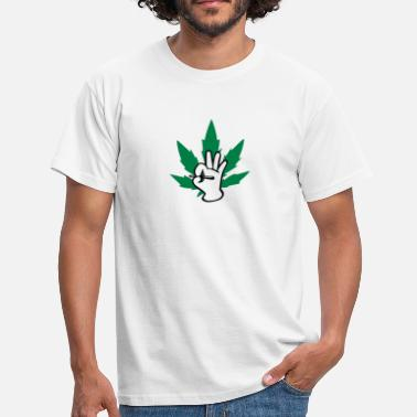 Joint Logo Marijuhana Joint Logo - Men's T-Shirt