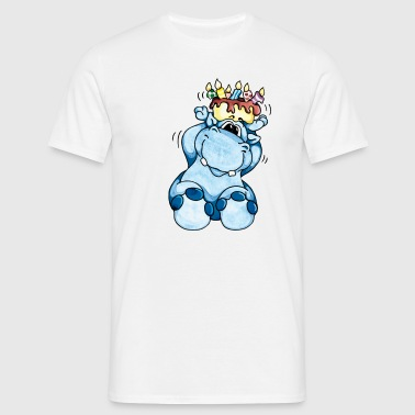Happy Birthday, Hippo! - Camiseta hombre