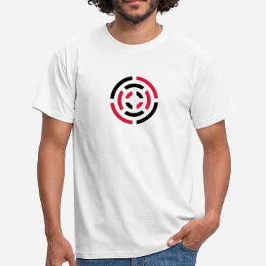 Abstrakt circle sign - Herre-T-shirt