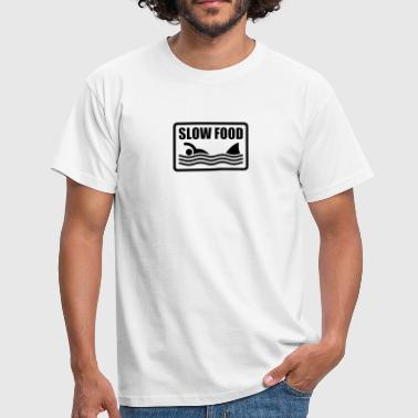 Motto slow food - Herre-T-shirt