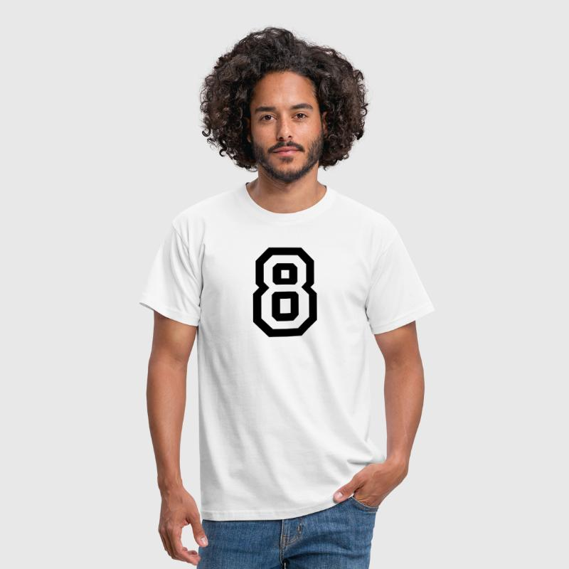 number - 8 - eight - Men's T-Shirt