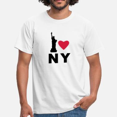 Statue I Love New York - Men's T-Shirt