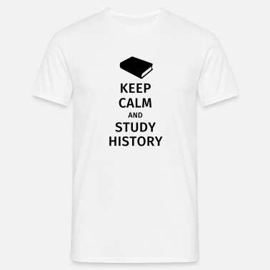 Modern History keep calm and study history - Men's T-Shirt