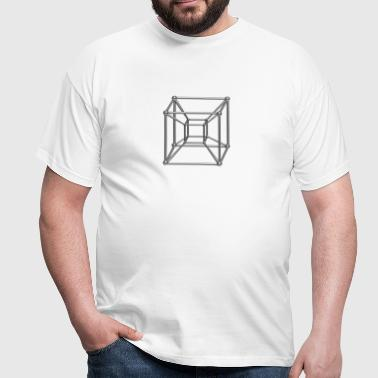TESSERACT, Hypercube 4D, digital, Symbol - Dimensional Shift, Metatrons Cube, - Camiseta hombre