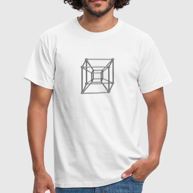 4d TESSERACT, Hypercube 4D, digital, Symbol - Dimensional Shift, Metatrons Cube, - Mannen T-shirt