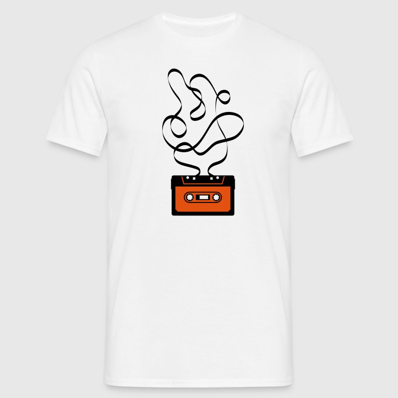 gross groß Kassette Bandsalat Audio Tape Tonband Musik Sound Walkman Band kasette - Männer T-Shirt