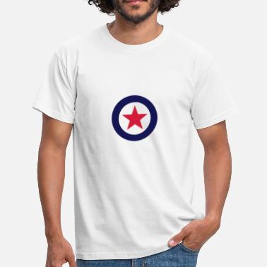 Stern Im Kreis Mod Star for white Shirts - Männer T-Shirt