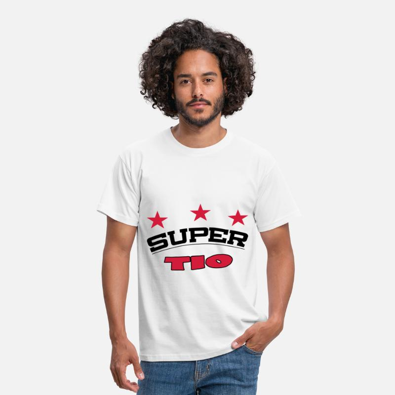 Comic Camisetas - Super tio - Camiseta hombre blanco