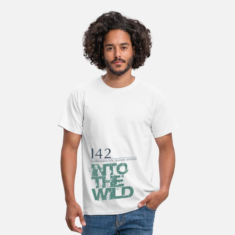 Into The Wild Camisetas - Into the wild - Camiseta hombre blanco