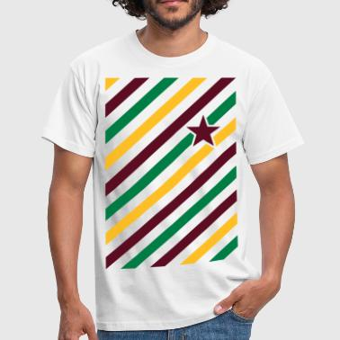 Diagonal Color match i diagonale striber og stjerne  - Herre-T-shirt