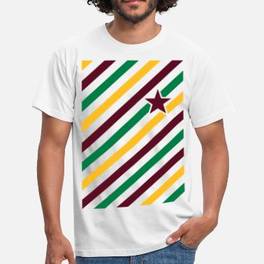 Color Match Color match in diagonal stripes and star  - Men's T-Shirt