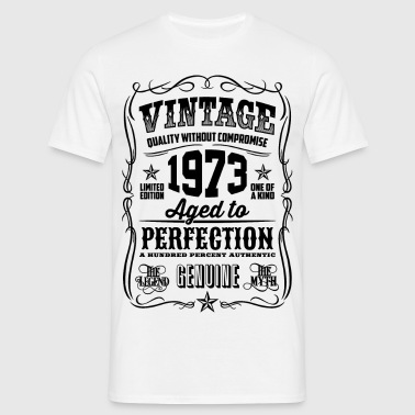 Vintage 1973 Aged to Perfection black - Men's T-Shirt