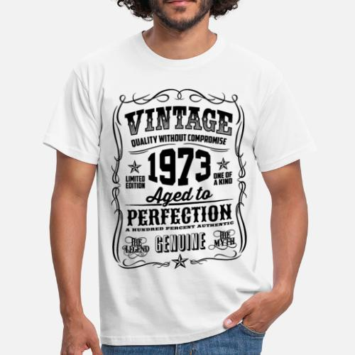 1973 Vintage 45th Birthday Gift 45 Years Old By T Shirt Of The Year