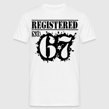 Registered No 67 - 49th Birthday - Men's T-Shirt