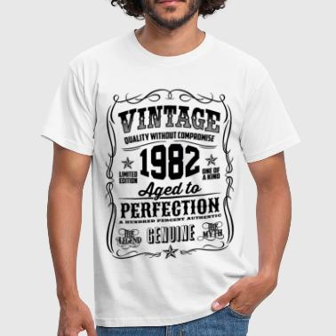 Vintage 1982 Aged to Perfection black - Men's T-Shirt