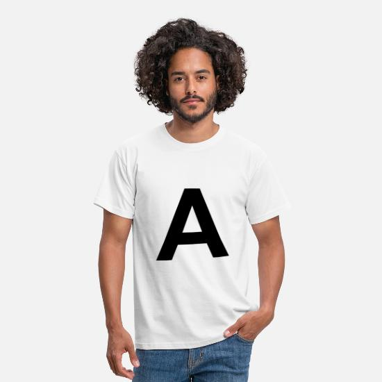 Gift Idea T-Shirts - Letter a - Men's T-Shirt white