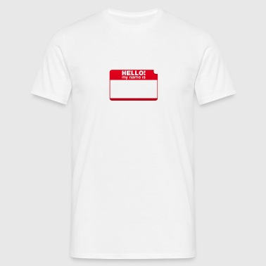 Hello! my name is by Punktzebra brands - Männer T-Shirt
