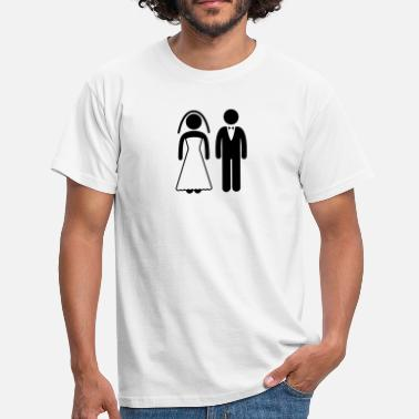 Bride And Groom Bride and Groom - Männer T-Shirt