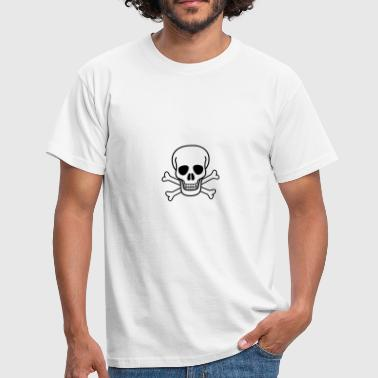 skull and cross bones BLACK - Men's T-Shirt