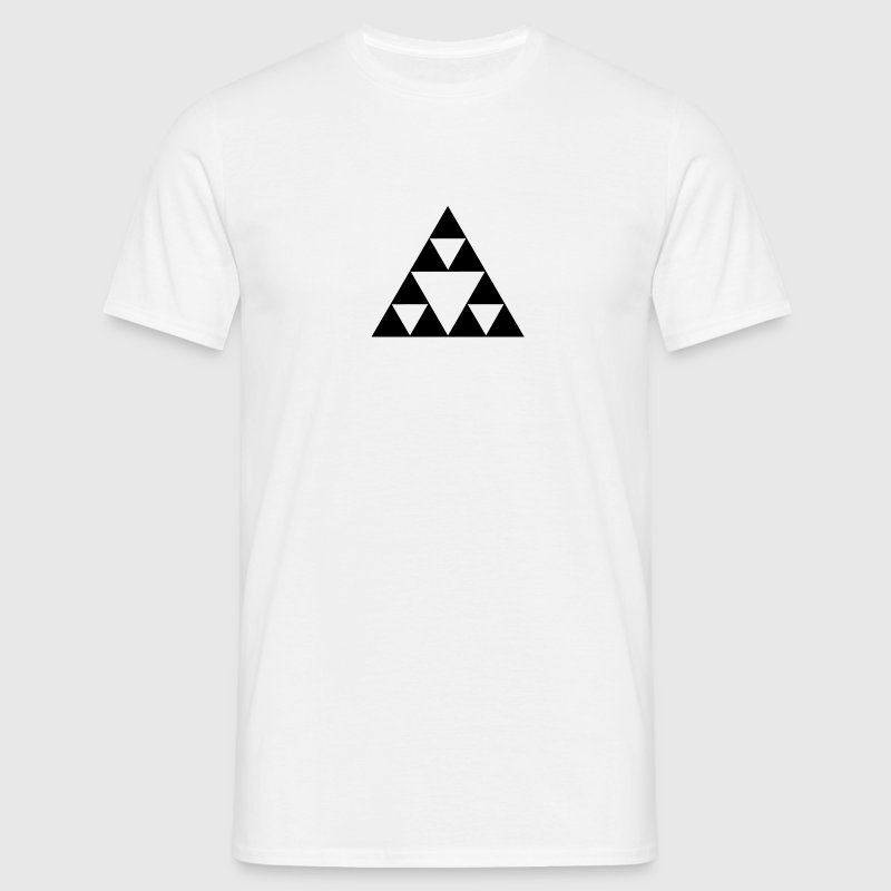 Triangle mathematics, Sierpinski fractal, geometry - Men's T-Shirt
