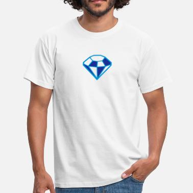 Two Coloured Diamond Outlined Two Colour - Men's T-Shirt