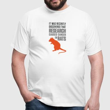 Research increases the risk of cancer in rats - Men's T-Shirt