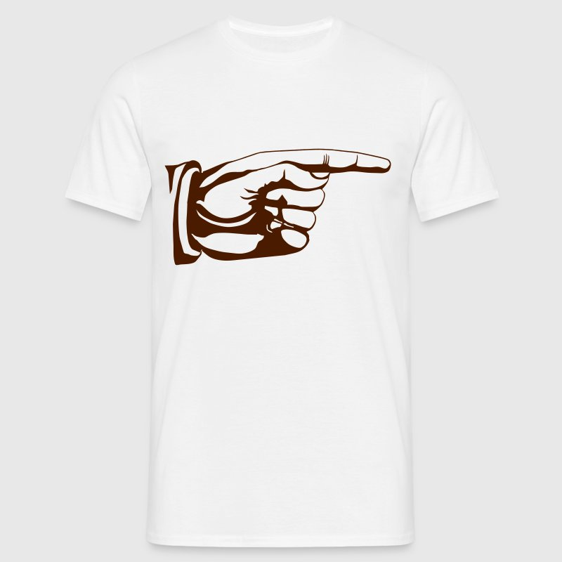 This way old fashioned pointing hand sign - Herre-T-shirt