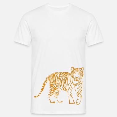 Cougar Hombre Zoo Blanco Camiseta Cat Puma Wild Lion Tiger mNO8vnw0
