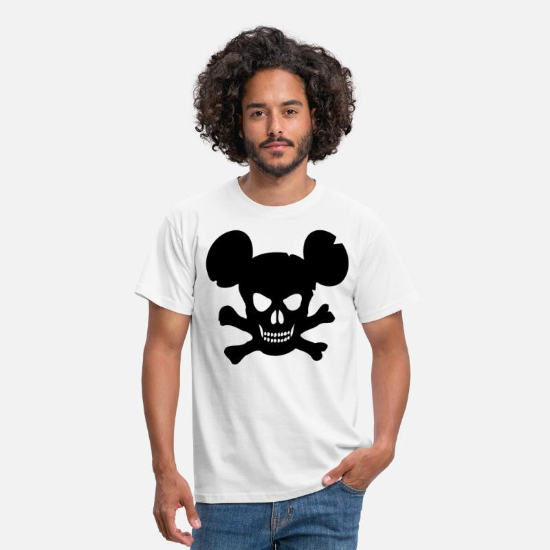 Souris T-shirts - mickey die - T-shirt Homme blanc
