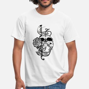 Arabic Skull Love & Peace Arabic - Men's T-Shirt
