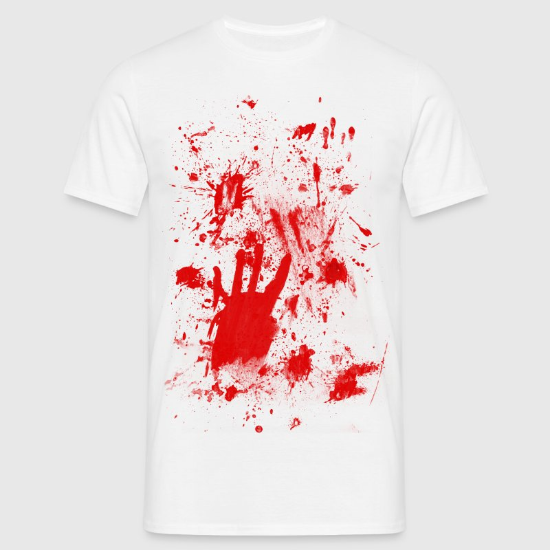 Splashes of blood / blood Smeared - Men's T-Shirt