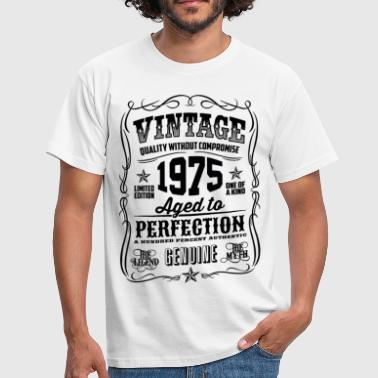 Vintage 1975 Aged to Perfection black - Men's T-Shirt