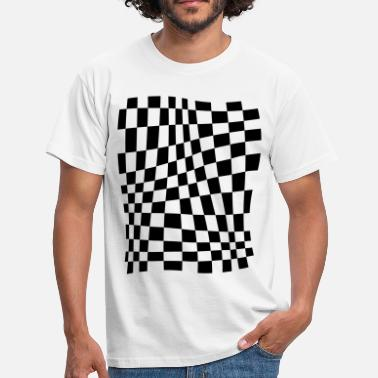 Checkerboard Distorted Grid - Men's T-Shirt