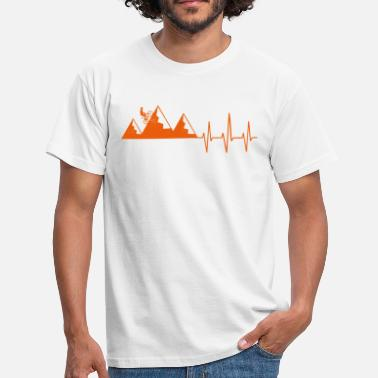 Mountain Biker Mountain biker heartbeat mountain bike mountains heart - Men's T-Shirt