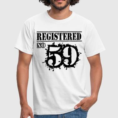 57th Registered No 59 - 57th Birthday - Men's T-Shirt