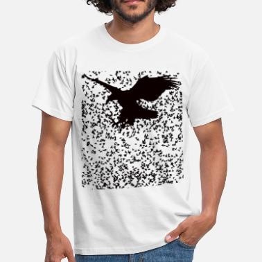 Raven Eagle bird crow raven swarm - Men's T-Shirt