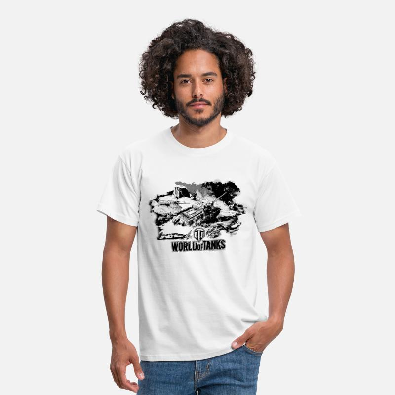 Officialbrands Camisetas - World of Tanks Battlefield Chope - Camiseta hombre blanco