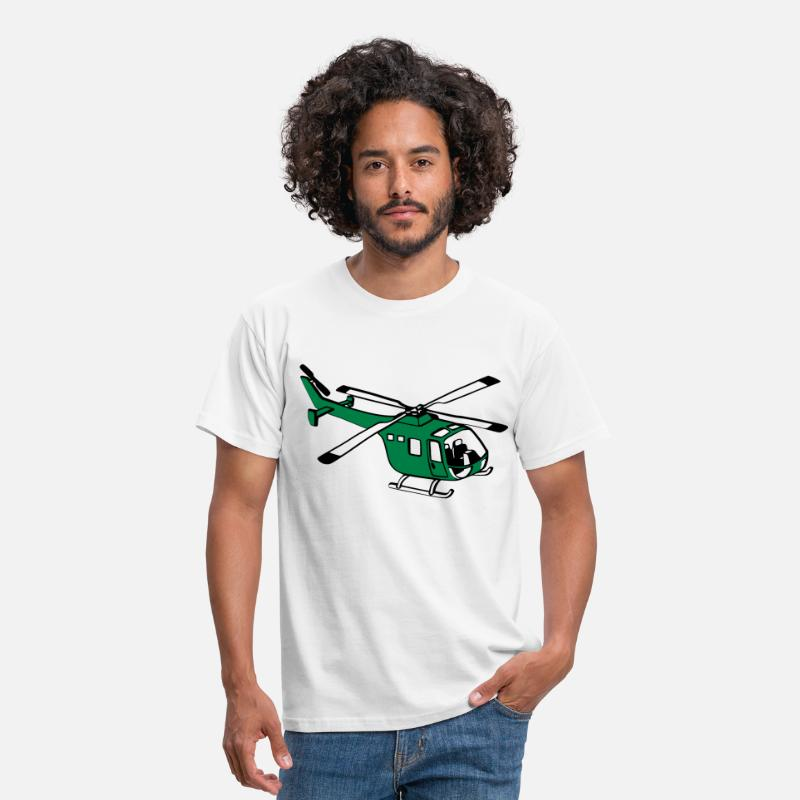 Helikopter T-Shirts - Helikopter - Mannen T-shirt wit
