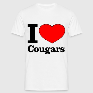 I love cougars - T-shirt Homme