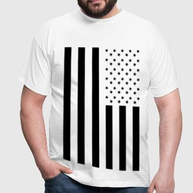 Blacked Out American Inspired Flag - Men's T-Shirt