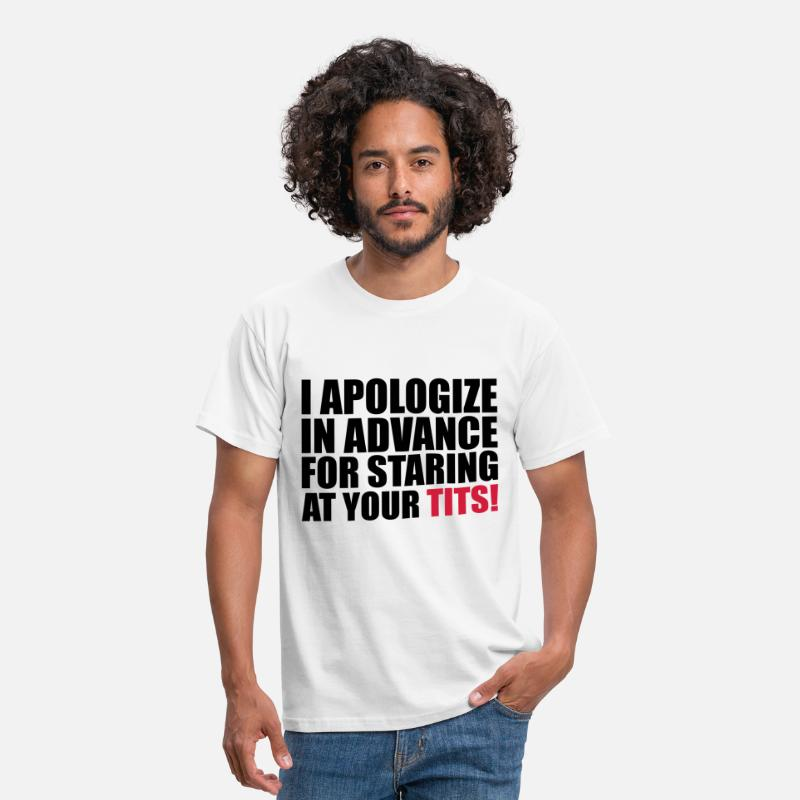 Party T-Shirts - I Apologize - Mannen T-shirt wit