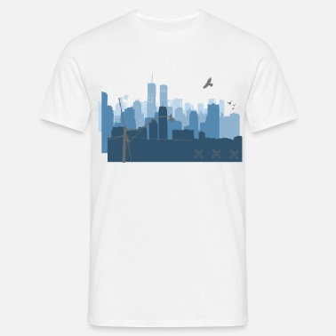 Cityscape urban - Men's T-Shirt