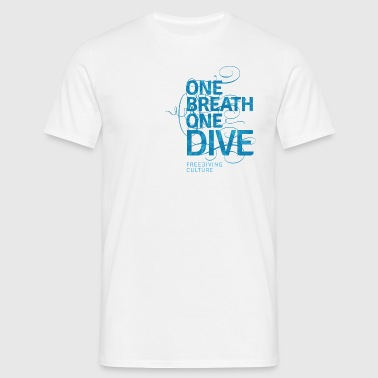 One Breath One Dive - Freediving Culture - Männer T-Shirt
