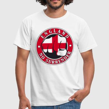 St George Cross England No Surrender Fist - Men's T-Shirt